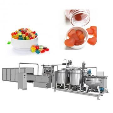 High technical hard making commercial chilidren's gummy starch mogul candy machine with cart